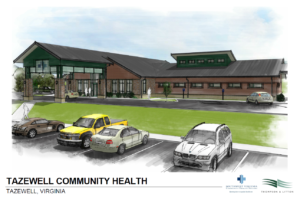 The new Tazewell Community Health building is slated to open in Fall 2018.