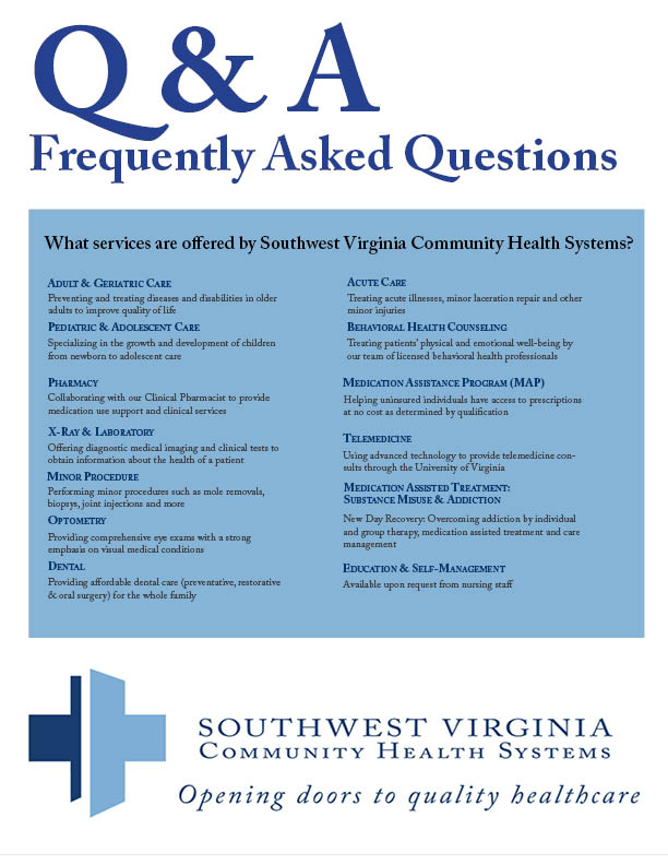 Q&A Series - 1 - Southwest Virginia Community Health Systems